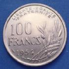 Photo numismatique  Monnaies Monnaies Françaises 4ème république 100 Francs 100 Francs Cochet 1954 B, Gad.897 SUP+