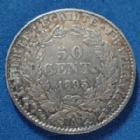 Photo numismatique  Monnaies Monnaies Françaises Troisième République 50 centimes Cérès 50 centimes Cérès d'Oudiné 1895 A, Paris, Gad.419a TTB+