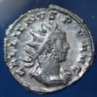 Photo numismatique  Monnaies Empire Romain Gallienus, Gallien Antoninien, Antoninian, Antoninianus GALLIENUS, GALLIEN, antoninien Trèves en 259-260, VICT GERMANICA, 22mm, 3,86 grms, RIC 45 TTB à SUP