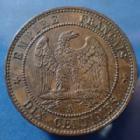 Photo numismatique  Monnaies Monnaies Françaises Second Empire 10 Centimes NAPOLEON III, 10 centimes tête nue 1852 A, Gad.248 P.SUP/SUP