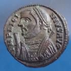 Photo numismatique  Monnaies Empire Romain LICINIUS I, LICINIO I,  Follis ou Nummus LICINIUS Ie, follis ou nummus Alexandria en 317-320, buste consulaire avec la mappa, 19mm, 3,07 grms, RIC 23 SUP+/SUP