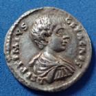 Photo numismatique  Monnaies Empire Romain GETA Denier, denar, denario, denarius GETA, Caesar, denarius Laodicea en 198-200, SPEI PERPETUA, 19mm, 2,98 grms, RIC 96 TTB+/ P.SUP