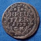 Photo numismatique  Monnaies Allemagne avant 1871 Allemagne, Deutschland, Hesse Darmstadt 1 Kreuzer HESSE DARMSTADT, 1 Kreuzer 1733, Ernst Ludwig, Schütz 2964 TTB