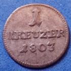 Photo numismatique  Monnaies Allemagne avant 1871 Allemagne, Deutschland, Löwenstein-Wertheim-Rochefort Kreuzer Lowenstein Wertheim, kreuzer 1803, Dominik Constantin, Wibel 407 P.TTB