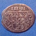 Photo numismatique  Monnaies Allemagne avant 1871 Allemagne, Deutschland, Wurzburg 3 heller, einseitiger, uniface WURZBURG, 3 heller 1747, einseitiger, uniface, KM.315 TTB