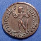 Photo numismatique  Monnaies Empire Romain LICINIUS I, LICINIO I,  Follis ou Nummus LICINIUS Ie, follis ou nummus Aquilé (Aquilea) en 317, Iovi conservatori (sans aigle et captif), 19-20mm, 3,13g, RIC 7 TTB à SUP