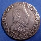 Photo numismatique  Monnaies Monnaies Féodales Dombes Teston Principauté des Dombes, Henri II de Montpensier, teston 1604, 9,38 grms, PA.5148 Bon TTB