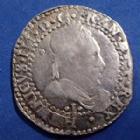 Photo numismatique  Monnaies Monnaies Royales Henri III 1/2 Franc au col plat, Demi Franc HENRI III, 1/2 Franc au col plat 1587 I Limoge, 6,85 grms, DY.1131B à TB / TB+  Néttoyée!