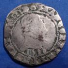 Photo numismatique  Monnaies Monnaies Royales Henri III Franc au col plat HENRI III, Franc au col plat 1580 L Bayonne, 13,42 grms, DY.1130 B à TB
