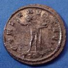 Photo numismatique  Monnaies Empire Romain PROBUS, PROBIO Antoninien, antoninianus, antoniniane PROBUS, antoninian frappé à Ticinum en 278-282, variante avec le buste cuirassé à gauche!, 24mm, 3,67g, RIC.349 Var. TTB/TB+ R!