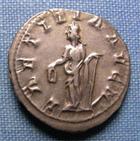 Photo numismatique  Monnaies Empire Romain 3ème siècle GORDIEN III Antoninien, antoninianus, antoniniane GORDIEN III (Gordianus) antoninien frappé à Rome en 241.243, Laetitia AUG N, RIC 86 SUPERBE/TTB+