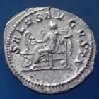 Photo numismatique  Monnaies Empire Romain Maximinus I Thrax, Maximin I le Thrace Denier, denar, denario, denarius MAXIMINUS Thrax, MAXIMIN I le Thrace, denier Rome en 236, Salus Augusti, 19-20mm, 2,92 grms, RIC 14 SPL/SUP