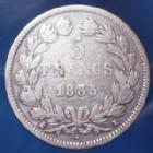 Photo numismatique  Monnaies Monnaies Françaises Louis Philippe 5 Francs LOUIS PHILIPPE Ier, 5 francs 1835 K Bordeaux, Gad.678 TB+/TB