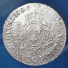 Photo numismatique  Monnaies Monnaies Royales Louis XVI Ecu aux branches d'olivier LOUIS XVI, Ecu aux branches d'olivier 1786 Q Perpignan, Gad.356, 28,96 grms, TB+