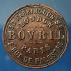 Photo numismatique  Monnaies Jetons Alimentation, Epicerie,  Jeton rond BOVRIL, Londres Paris, Alimentation, épicerie, jeton rond 20,8mm, TTB