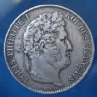 Photo numismatique  Monnaies Monnaies Françaises Louis Philippe 5 Francs LOUIS PHILIPPE, 5 Francs 1844 W Lille, Gad.678a TTB
