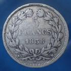 Photo numismatique  Monnaies Monnaies Françaises Louis Philippe 5 Francs LOUIS PHILIPPE, 5 Francs 1838 MA Marseille, Gad.678 TB à TTB/TB