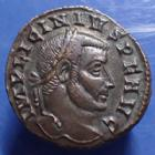 Photo numismatique  Monnaies Empire Romain LICINIUS I, LICINIO I,  Follis ou Nummus LICINIUS Ie, Follis ou nummus, Ticinum en 314-315, MARTI CONSERVATORI, 21-22mm, 4,82 grms, RIC.13 R3!, P.SUP