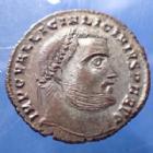 Photo numismatique  Monnaies Empire Romain LICINIUS I, LICINIO I,  Follis réduit LICINIUS Ie, follis réduit Héraclea en 313-314, IOVI CONSERVATORI AVGG, 22mm, 3,99 grms, RIC.6 R3! SUP Beau style!