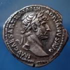 Photo numismatique  Monnaies Empire Romain Hadrianus, Hadrien, Hadrian Denarius, Denier, Denar, Denario HADRIANUS, HADRIEN, HADRIAN, denier Rome en 121, PM TR P COS III LIBERAL AUG III, 18,5mm, 3,20 grms, RIC.129 Var. TTB à SUP R!