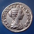 Photo numismatique  Monnaies Empire Romain Plautilla, Plautille Denarius, Denier, Denar, Denario PLAUTILLA, PLAUTILLE, denarius Rome en 202-203, CONCORDIAE AETERNAE, 18mm, 3,39 grms, RIC.361 SUP+/TTB+