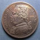 Photo numismatique  Monnaies Monnaies Françaises Louis XVIII 5 Francs LOUIS XVIII 1814, visite à la monnaie de Lille, Mgr LE DUC DE BERRY, module du 5 francs, Gadoury (1989 592a  SUPERBE petit coup sur tranche