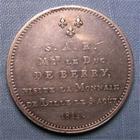 Photo numismatique  Monnaies Monnaies Fran�aises Louis XVIII 5 Francs LOUIS XVIII 1814, visite � la monnaie de Lille, Mgr LE DUC DE BERRY, module du 5 francs, Gadoury (1989 592a  SUPERBE petit coup sur tranche