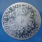 Photo numismatique  Monnaies Monnaies Royales Louis XIV 1/10 ème d'Ecu aux trois couronnes LOUIS XIV, 1/10e d'Ecu aux 3 couronnes 1711 P Dijon, Gad.125 B à TB Rare!