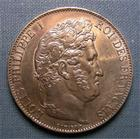 Photo numismatique  Monnaies Monnaies Françaises Louis Philippe 5 Francs LOUIS PHILIPPE Ier, 1848 A, 5 francs, Gadoury 678 a SUPERBE monnaie lustrée!