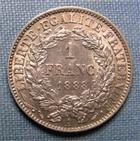 Photo numismatique  Monnaies Monnaies Fran�aises Troisi�me R�publique 1 Franc III�me R�publique, 1 franc type C�r�s, 1888 A Paris, Gadoury 465a SUPERBE
