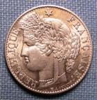 Photo numismatique  Monnaies Monnaies Fran�aises Troisi�me R�publique 50 Centimes III�me R�publique, 50 centimes 1894 A Paris, type C�r�s, Gadoury 419a SUPERBE � FDC