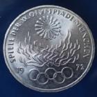 Photo numismatique  Monnaies Allemagne après 1871 Allemagne, Deutschland, BRD 10 Mark Olympiade  JO Munchen, 10 MARK 1972 F, BRD, argent 625°/°° 9,69 fin, J.405 quelques traces sinon SUP