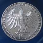 Photo numismatique  Monnaies Allemagne après 1871 Allemagne, Deutschland, BRD 10 Mark Olympiade  JO Munchen, 10 mark 1972 G, BRD, Argent 625°/°°° 9,69 fin, J.403 traces sinon TTB+