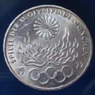 Photo numismatique  Monnaies Allemagne après 1871 Allemagne, Deutschland, BRD 10 Mark Olympiade  JO Munchen, 10 mark 1972 G, BRD, argent 625°/°°° 9,69 fin, J.403 quelques traces sinon TTB à SUP