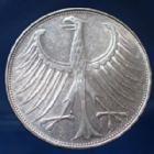 Photo numismatique  Monnaies Allemagne après 1871 Allemagne, Deutschland, BRD 5 Mark BRD 5 Mark 1971 G, BRD, argent 625°/°°° 7 grms fin, J.387 TTB+