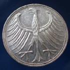 Photo numismatique  Monnaies Allemagne après 1871 Allemagne, Deutschland, BRD 5 Mark BRD 5 Mark 1969 F, BRD, argent 625°/°°° 7 grms fin, J.387 TTB+/TTB