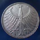 Photo numismatique  Monnaies Allemagne après 1871 Allemagne, Deutschland, BRD 5 Mark BRD 5 Mark 1951 D, BRD kurzmunze, argent 625°/°°° 7 grms fin, J.387 TTB