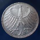 Photo numismatique  Monnaies Allemagne après 1871 Allemagne, Deutschland, BRD 5 Mark BRD 5 Mark 1971 J, BRD kurzmunze, argent 625°/°°° 7 grms fin, J.387 TTB