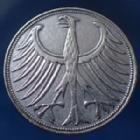 Photo numismatique  Monnaies Allemagne après 1871 Allemagne, Deutschland, BRD 5 Mark BRD 5 Mark 1951 J, BRD kurzmunze, argent 625°/°°° 7 grms fin, J.387 TTB