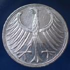 Photo numismatique  Monnaies Allemagne après 1871 Allemagne, Deutschland, BRD 5 Mark BRD 5 Mark 1966 G, BRD kurzmunze, argent 625°/°°° 7 grms fin, J.387 TTB+/TTB