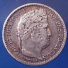 Photo numismatique  Monnaies Monnaies Françaises Louis Philippe 25 centimes Louis Philippe LOUIS PHILIPPE, 25 centimes 1846 A, Paris, Gad.357 TTB+