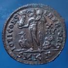 Photo numismatique  Monnaies Empire Romain LICINIUS I, LICINIO I,  Follis ou Nummus LICINIUS I, nummus Cysicus en 321-324, très beau style et avec l'aigle sans couronne dans le bec, 20mm, 2,86 grms, RIC.15 Var. SUPERBE à FDC