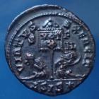 Photo numismatique  Monnaies Empire Romain LICINIUS II, LICINIO II, LICINO II Follis ou Nummus LICINIUS II, nummus Siscia en 320, Virtus Exercit, 19-20mm, 3,47 grms, RIC.125 R4! SUP