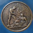 Photo numismatique  Monnaies Médailles Napoléon Ier Médaille bronze NAPOLEON Ie, médaille en bronze de 51mm, Bonaparte Ier Consu AN VIII, Marengo, République Cisalpine, 60,77 grms, coups sur tranche sinon P.SUP