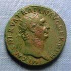 Photo numismatique  Monnaies Empire Romain TRAJAN, TRAJANUS, TRAIAN, TRAIANO Dupondius, dupondii TRAJAN (Traianus) dupondius, Rome en 99, l'abondance assise à gauche, devant un cheval, Cohen  595 TTB Belle patine!