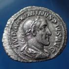 Photo numismatique  Monnaies Empire Romain Maximinus I Thrax, Maximin I le Thrace Denier, denar, denario, denarius MAXIMINUS Thrax, MAXIMIN Ie le Thrace, denier Rome en 236, PAX AUGUSTI, 20mm, 2,64 grms, RIC.12 TTB+