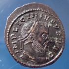 Photo numismatique  Monnaies Empire Romain LICINIUS I, LICINIO I,  Follis ou Nummus LICINIUS Ie, nummus Ticinum en 313-314, Soli Invicto Comiti, 19x22mm, 2,88 grms, RIC.9 SUP