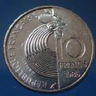Photo numismatique  Monnaies Monnaies Françaises Cinquième république 10 francs Schuman 10 Francs Robert Schuman 1986, 5e République Française, Gad.825 SPL
