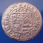 Photo numismatique  Monnaies Monnaies/medailles d'Alsace Hanau lichtenberg 3 Kreuzers Hanau Lichtenberg, Comté, Johann Reinhard, 3 kreuzers 1606, 1,75 grms, flan paillé sinon P.SUP