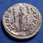 Photo numismatique  Monnaies Empire Romain Maximinus I Thrax, Maximin I le Thrace  MAXIMINUS I Thrax, MAXIMIN Ie le Thrace, denier Rome en 235 - 236, FIDES MILITUM, 19mm, 3,36 grms, RIC.7A SUP/P.SUP